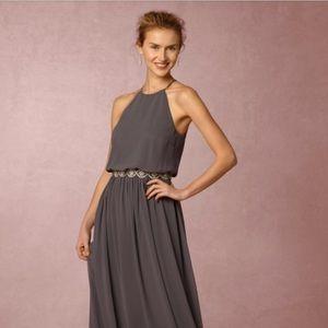 BHLDN Alana bridesmaid dress charcoal size 2 EUC